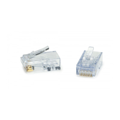 Platinum Tools ezEX48-RJ45 CAT6a Crimp Plugs, 100 Pieces Jar - Part Number: 202048J