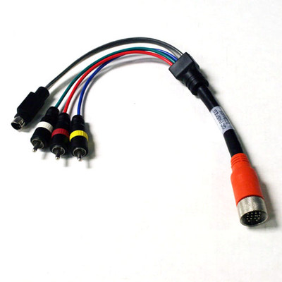 EZ Pull Orange Male to 3 RCA and S-Video (Composite Video, Stereo Audio and MiniDin4) Male Adapter Cable 1 foot - Part Number: 25S3-03101
