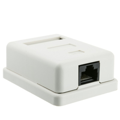 Cat5e Single Surface Mount Box, Unshielded - Part Number: 300-313SE