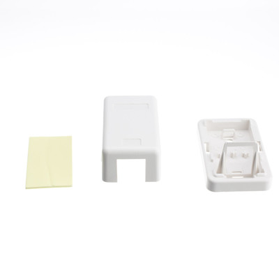 Blank Surface Mount Box for Keystones, 1 Port, White - Part Number: 300-314SE