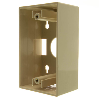 Single Gang Surface Mount Box, Ivory - Part Number: 300-625IV