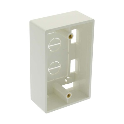 Surface mount box, single gang, white, includes mounting screws and double sided adhesive pad - Part Number: 300-626WH