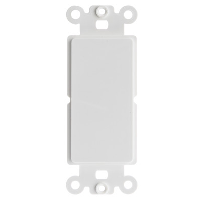 Decora Wall Plate Insert, White, Blank - Part Number: 301-1005