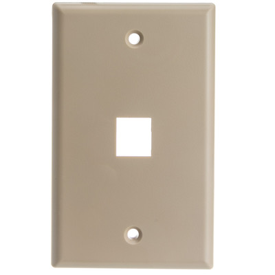 Keystone Wall Plate, Beige, 1 Port, Single Gang - Part Number: 301-1K