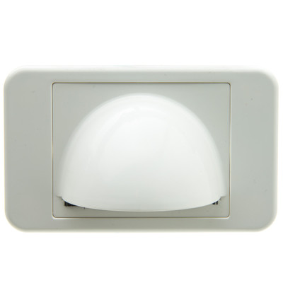 Brush Style Cable Pass-Through Wall Plate Insert with half-moon cover, single gang, white - Part Number: 301-6001