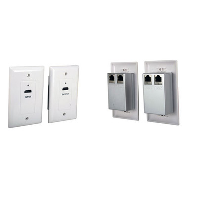 Wall Plate Set, White, HDMI Over Cat5e / Cat6 Extension Kit, 26 meter (80 foot) - Part Number: 301-HD101