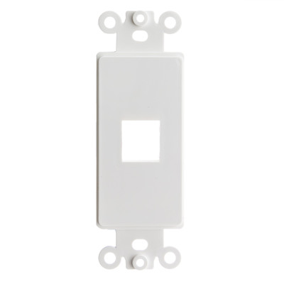 Decora Wall Plate Insert, White, 1 Keystone Jack, Single Gang - Part Number: 302-1D-W