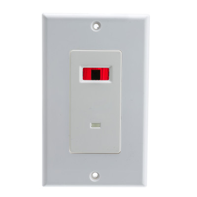 Wall Plate, White, IR Receiver, Dual Band, 12 Volts DC, 30 mA, Single Gang - Part Number: 303-100