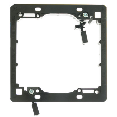 Wall Plate Mounting Bracket, Nylon, Low Voltage, Dual Gang - Part Number: 3031-11200