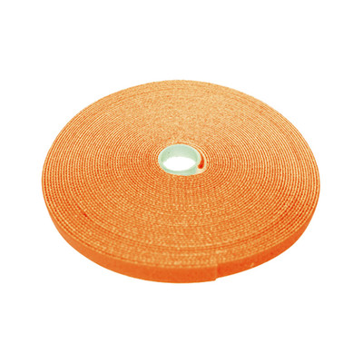 Hook and Loop Tape, 3/4 inch Wide, Orange, 50ft Roll - Part Number: 30CT-03150