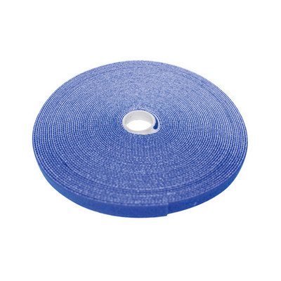 Hook and Loop Tape, 3/4 inch Wide, Blue, 50ft Roll - Part Number: 30CT-06150