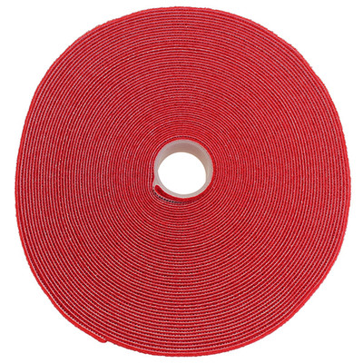 Hook and Loop Tape, 3/4 inch Wide, Red, 50ft Roll - Part Number: 30CT-07150