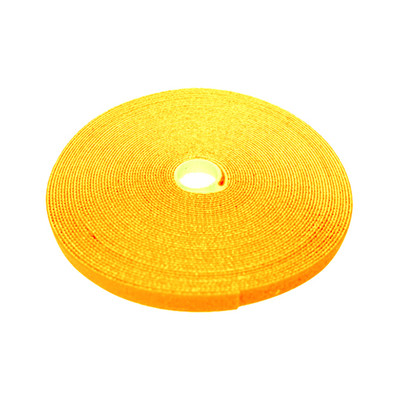 Hook and Loop Tape, 3/4 inch Wide, Yellow, 50ft Roll - Part Number: 30CT-08150
