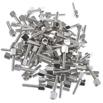 Hex Nut Jack Screw, 100 Pieces, # 4 - 40, 17.08mm - Part Number: 30D1-22440