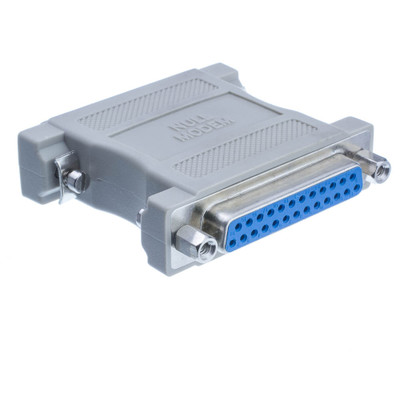Null Modem Adapter, DB25 Male to DB25 Female - Part Number: 30D3-38200