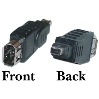 Firewire Adapter, IEEE-1394a , 6 Pin Female / 4 Pin Male - Part Number: 30E3-01300
