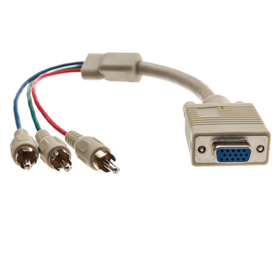 VGA to Component Video Adapter, HD15 Female to 3 x RCA Male (RGB), 1 foot * Not For Computer Use - Part Number: 30H1-52300