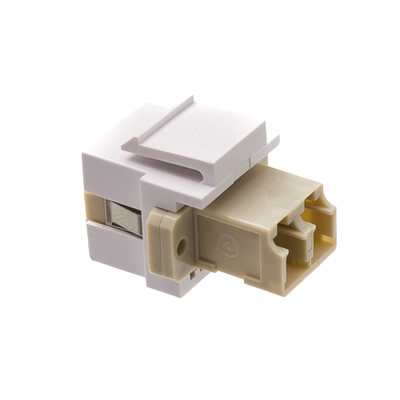 Keystone, White, LC Fiber Optic Network Coupler - Part Number: 30LC-LC400