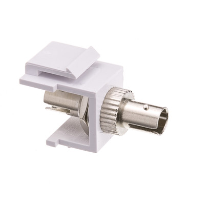 Keystone, White, ST Fiber Optic Network Coupler - Part Number: 30ST-ST400