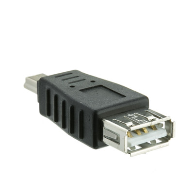 USB A Female to USB Mini-B 5 Pin Male Adapter - Part Number: 30U1-05300