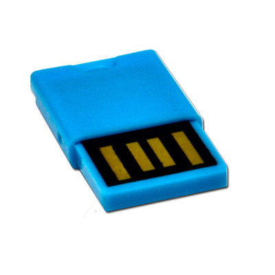 Micro SD USB 2.0 Card Reader, Blue, Key Chain / Charm - Part Number: 30U2-110BL