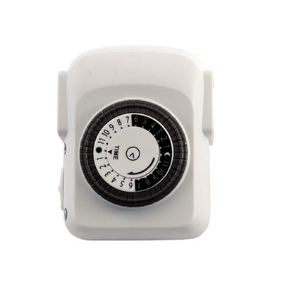 Mechanical Timer 24 Hour with Single 3-Prong Outlet - UL Rated - Part Number: 30W1-42300