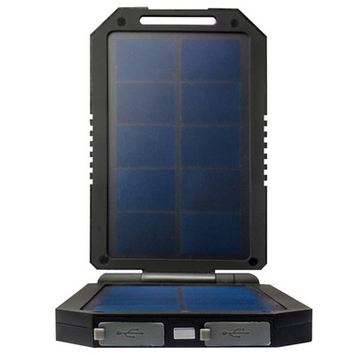 Power bank | 6000 mAh Battery Backup with Dual Solar Panel Portable - Part Number: 30W1-60060