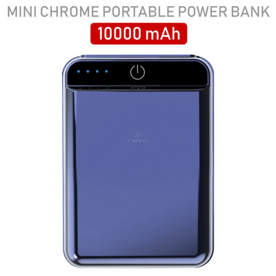 2 port Power bank 10000 mAh USB Battery Backup, includes Micro USB cable, Gray. - Part Number: 30W1-610GY