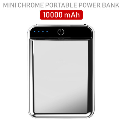 2 port Power bank 10000 mAh USB Battery Backup, includes Micro USB cable, Silver. - Part Number: 30W1-610SL