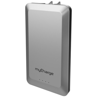 MyCharge Home and Go, 4000 mAh Power Bank with Built-in AC plug.  1 USB port - Part Number: 30W1-62003