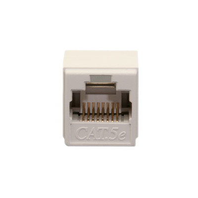 Unshielded Cat5e Coupler, White, RJ45 Female - Part Number: 30X6-02400WH