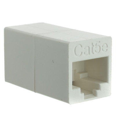 Cat5e Crossover Coupler, White, RJ45 Female, Unshielded - Part Number: 30X6-33400