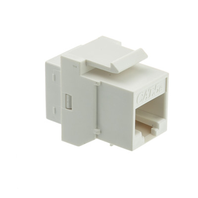 Cat5e Keystone Inline Coupler, White, RJ45 Female - Part Number: 310-220WH