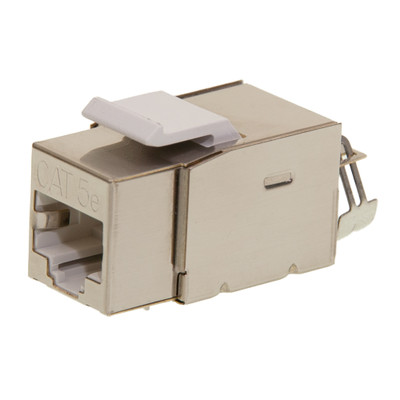 Shielded Cat5e Keystone Jack, RJ45 Female to 110 Punch Down - Part Number: 310-520
