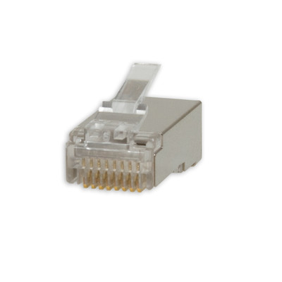 CAT6a Shielded Crimp Connectors for Stranded  Cable (20 Pcs Per Bag) - Part Number: 31D0-65020