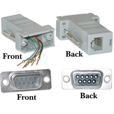 Modular Adapter, Gray, DB9 Male to RJ12 Jack - Part Number: 31D1-16200