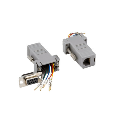 Modular Adapter, Gray, DB9 Female to RJ12 Jack - Part Number: 31D1-16410