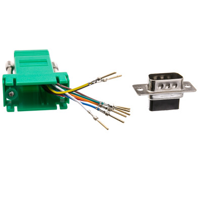 Modular Adapter, Green, DB9 Male to RJ45 Jack - Part Number: 31D1-1720GR