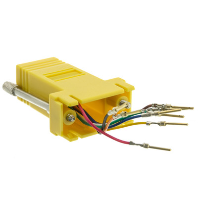 Modular Adapter, Yellow, DB9 Male to RJ45 Jack - Part Number: 31D1-1720YL