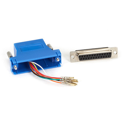 Modular Adapter, Blue, DB25 Female to RJ45 - Part Number: 31D3-3740BL
