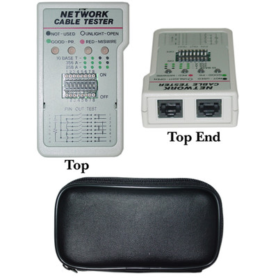 Network Cable Tester, Test 10Base-T and AT&T Networks - Part Number: 31D3-51450