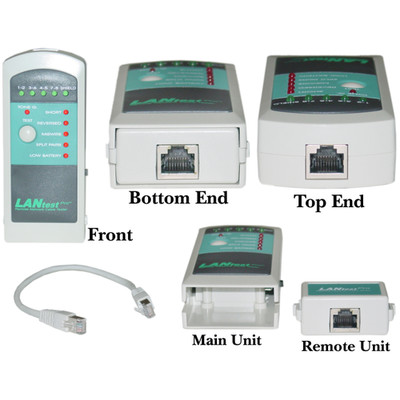 LanTester Cable Tester Pro, Detect Wiring Faults and Wiring Mistakes, Includes AAA Battery - Part Number: 31D3-56652