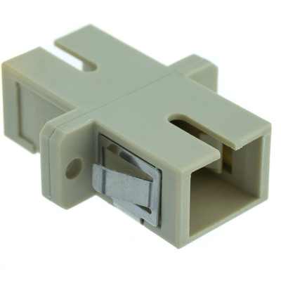 Fiber Optic Coupler, SC/SC Female, Simplex, Plastic Housing - Part Number: 31F2-CC400