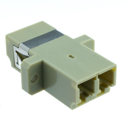 Fiber Optic Coupler, LC/LC Female, Duplex, Plastic Housing - Part Number: 31F2-LL410