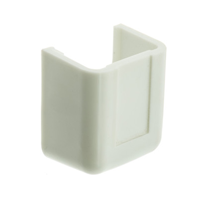 3/4 inch Surface Mount Cable Raceway, White, End Cap - Part Number: 31R1-005WH