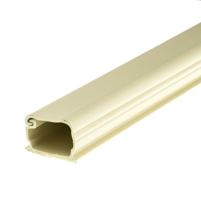 1.25 inch Surface Mount Cable Raceway, Ivory, Straight 6 foot Section - Part Number: 31R2-000IV