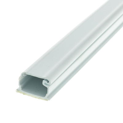 1.25 inch Surface Mount Cable Raceway, White, Straight 6 foot Section - Part Number: 31R2-000WH