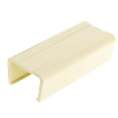 1.25 inch Surface Mount Cable Raceway, Ivory, Joint Cover - Part Number: 31R2-002IV