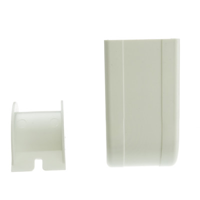 1.75 inch Surface Mount Cable Raceway, White, Outside Elbow, 90 Degree - Part Number: 31R3-007WH