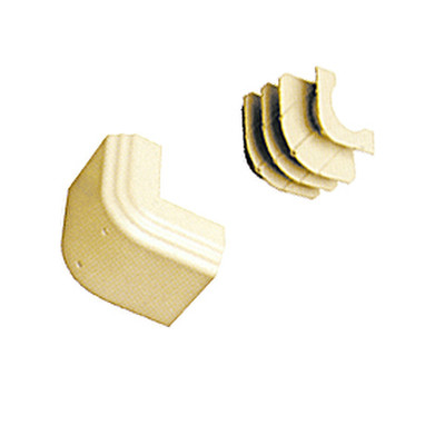 Cable Raceway, Ivory, Outside Corner for 4 inch Raceway - Part Number: 31R4-017IV